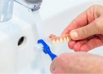 cleaning dental impression