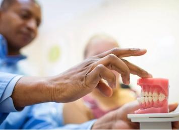 pressing dental impression
