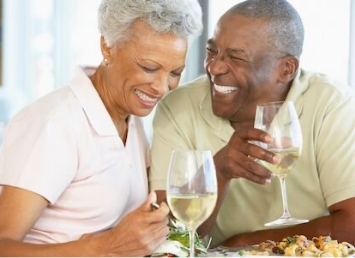 couple with white wine